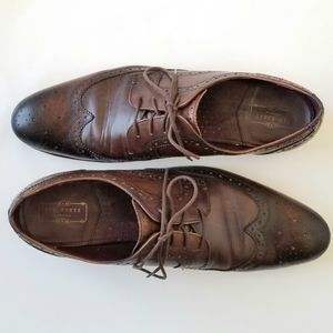 Ted Baker London wingtip dress shoes Brown Size 12